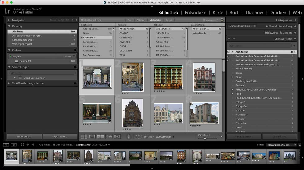 Stichwortliste Adobe Lightroom